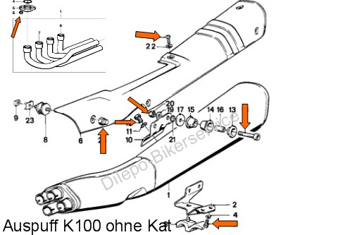 bmw k100    k 100 v2a schrauben motorschrauben